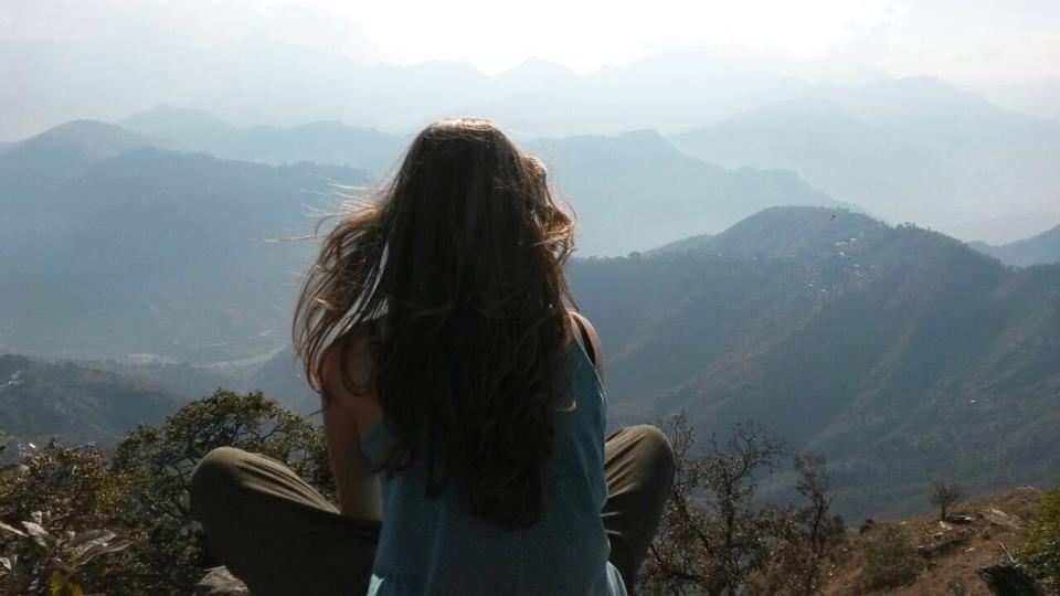 Het uitzicht op Dhading