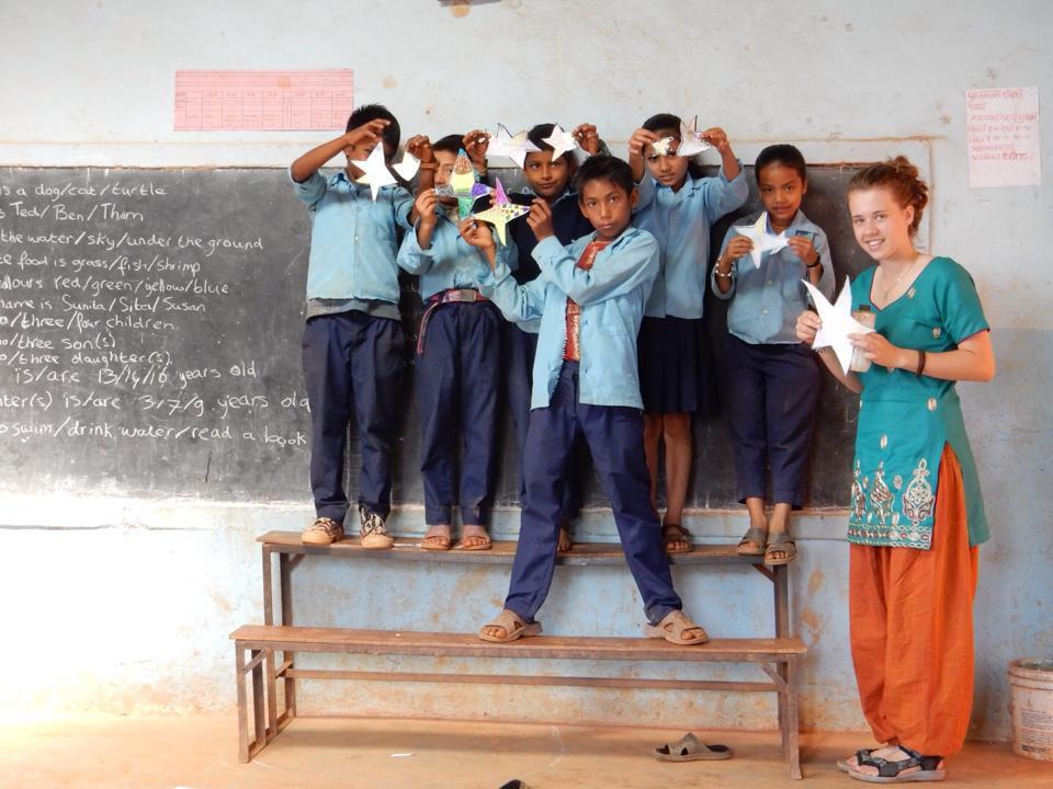 sterren knutselen in Nepal