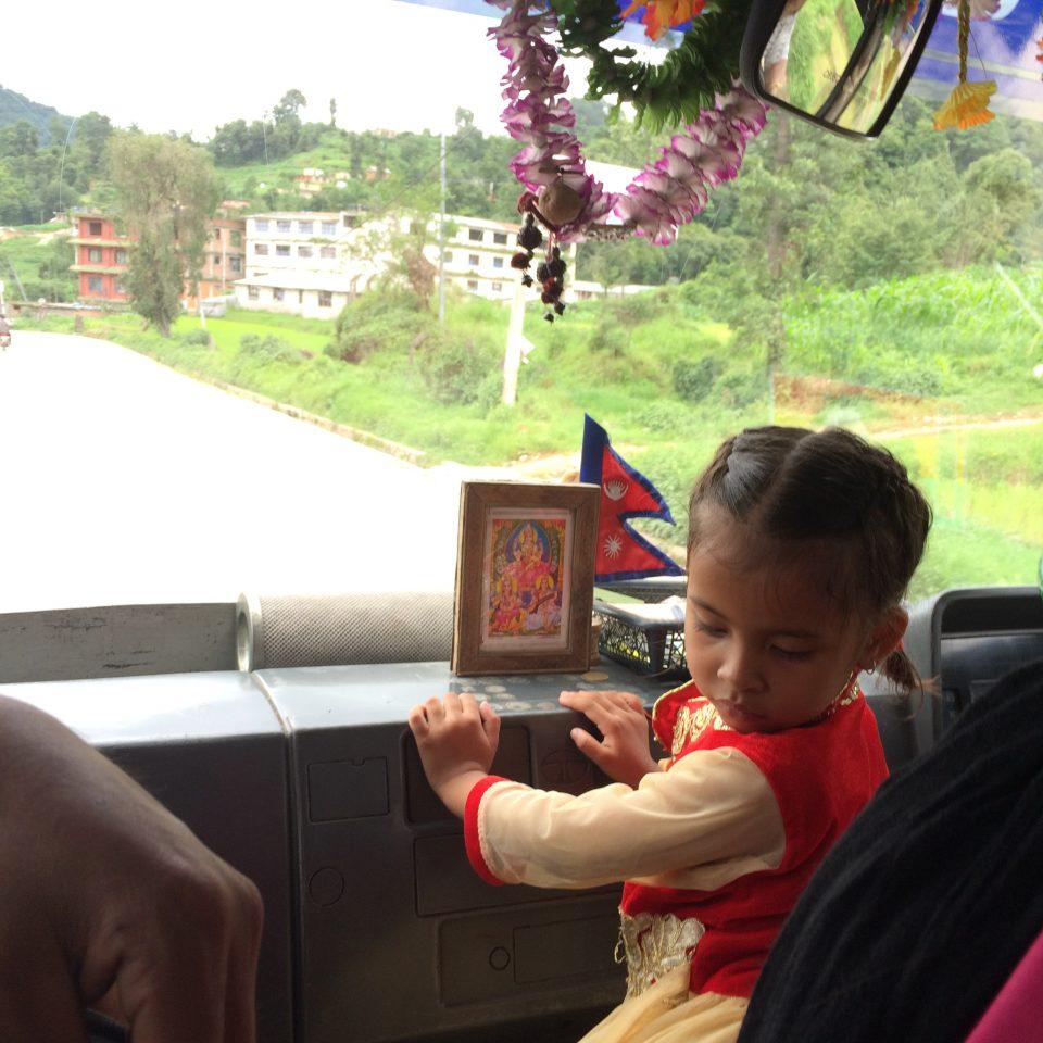 Public transport guide nepal, nepali girl, bus